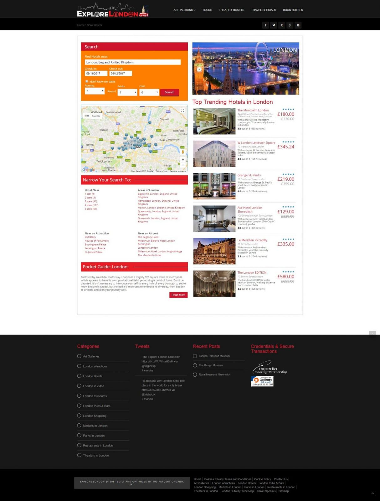 Explore-London-Travel-Booking-Page